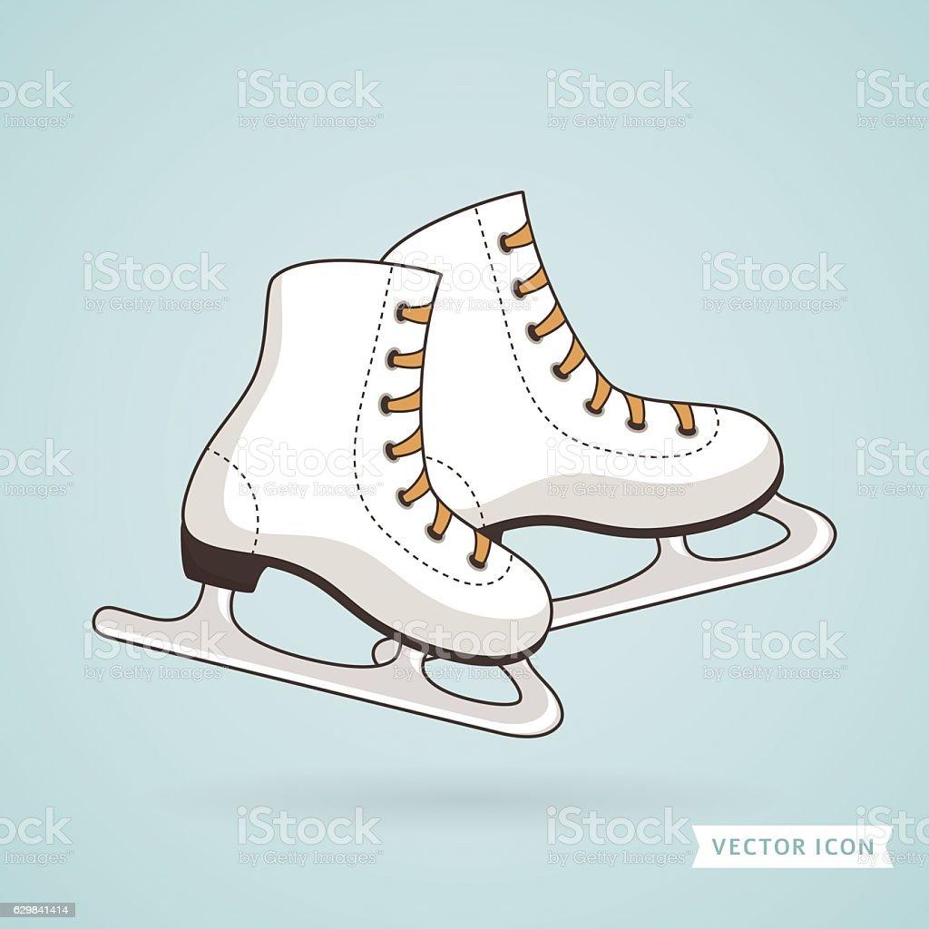 Ice skates. Vector illustration.