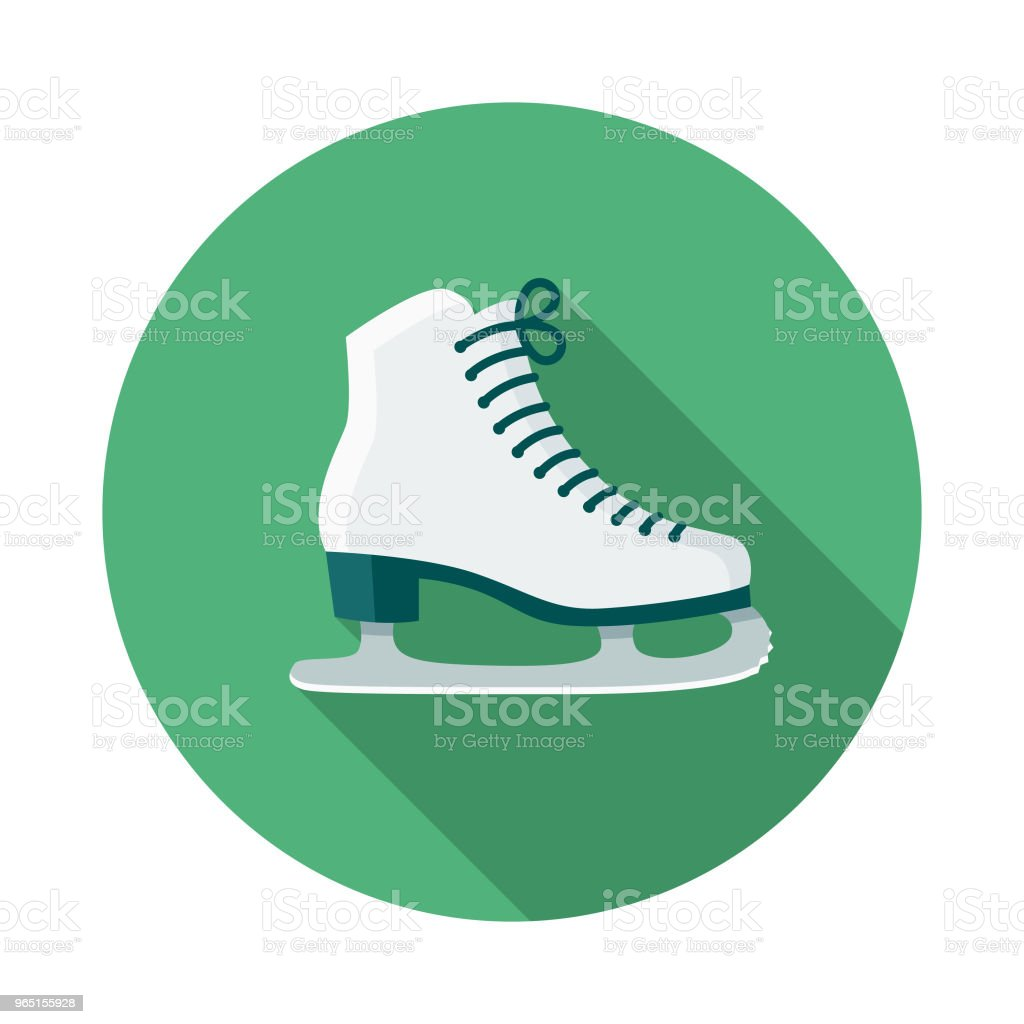 Ice Skating Flat Design Winter Icon with Side Shadow royalty-free ice skating flat design winter icon with side shadow stock vector art & more images of blue