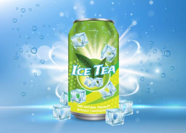 stockillustraties, clipart, cartoons en iconen met ijs thee poster, spandoek vector ontwerpsjabloon - cola