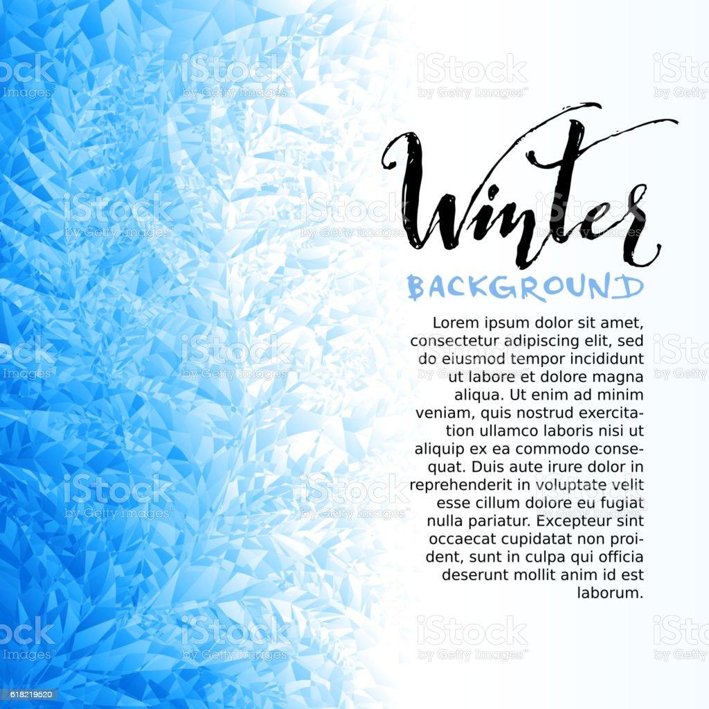 Ice winter background vector art illustration