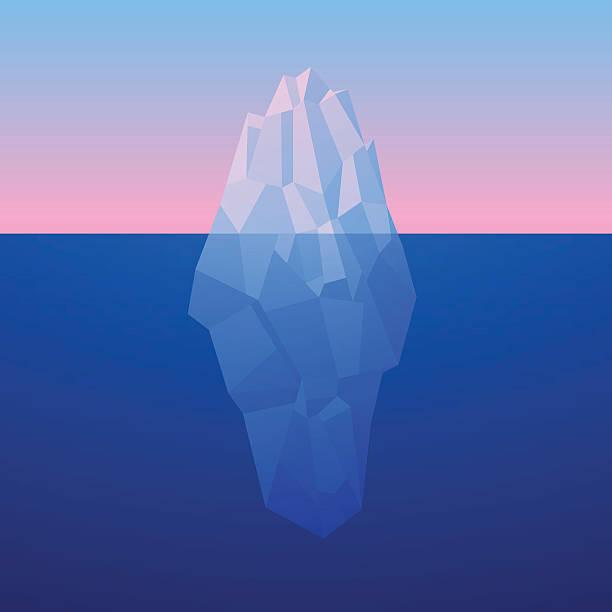 氷山の背景に低ポリスタイルです。ベクター - 南極旅行点のイラスト素材/クリップアート素材/マンガ素材/アイコン素材