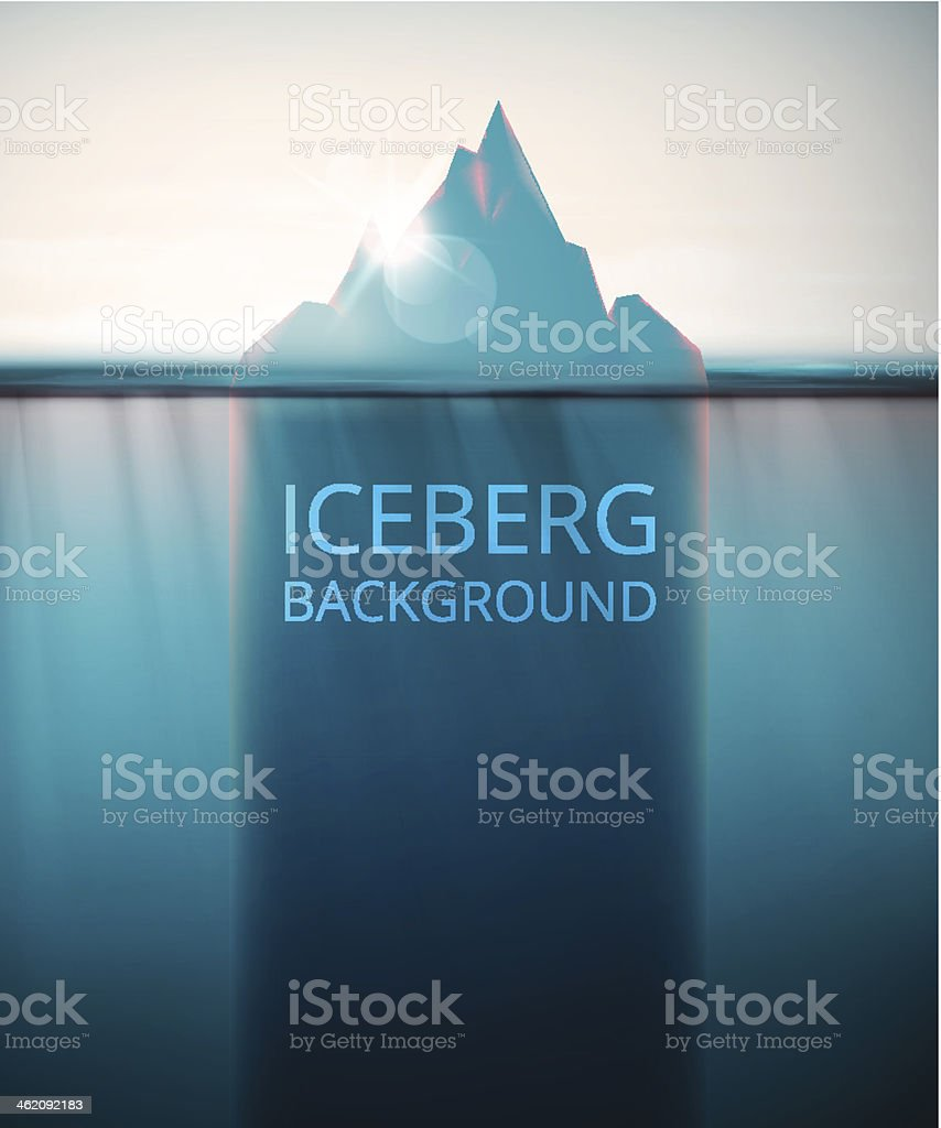 Iceberg background vector art illustration