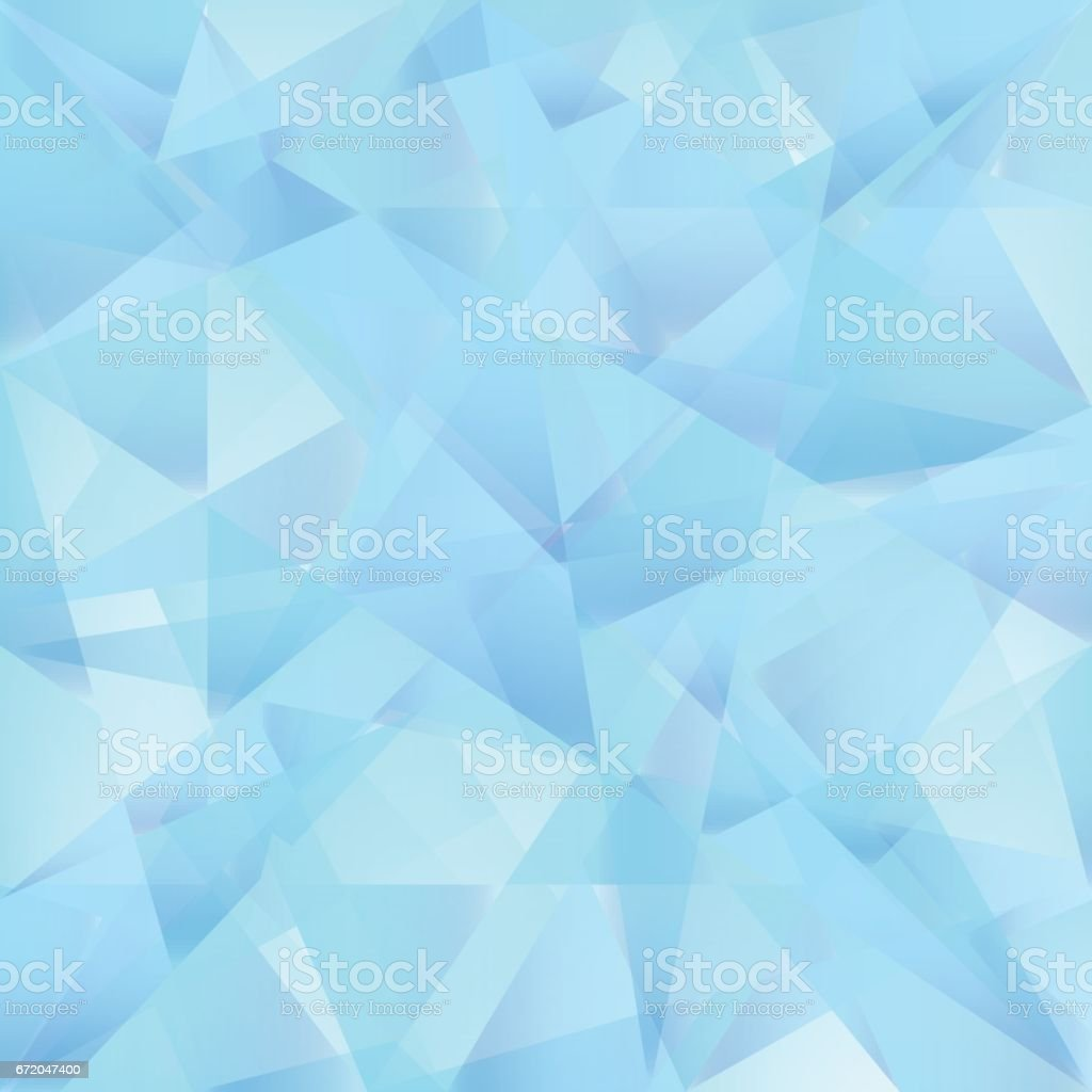 Iceberg bleu Triangle Abstract Vector Background. - Illustration vectorielle