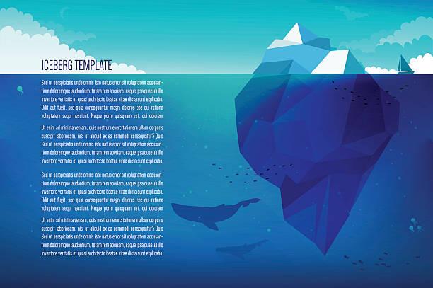 ilustrações de stock, clip art, desenhos animados e ícones de icebergue conceito ilustração - iceberg