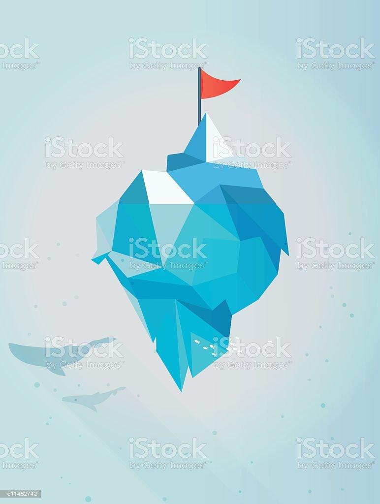 Iceberg Concept Illustration vector art illustration