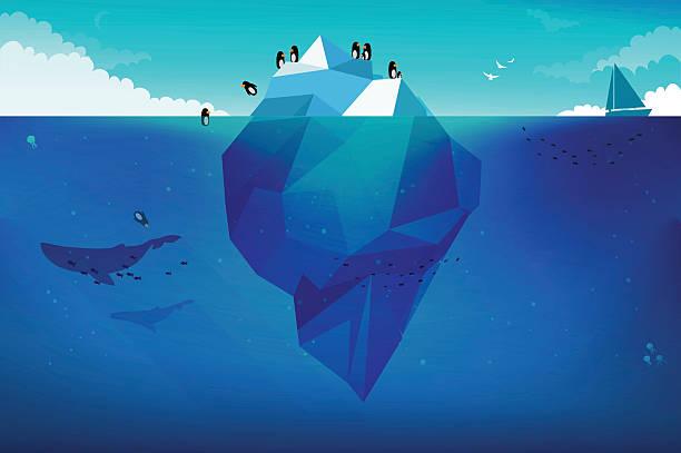 氷山のコンセプトイラスト - 南極旅行点のイラスト素材/クリップアート素材/マンガ素材/アイコン素材
