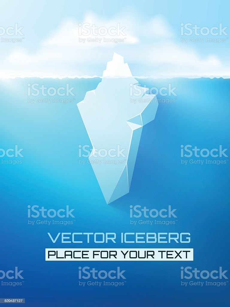 Iceberg concept illustration. vector art illustration