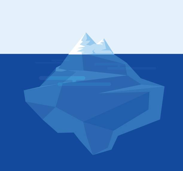 ilustrações de stock, clip art, desenhos animados e ícones de iceberg illustration flat design. vector illustration. - iceberg