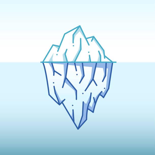 ilustrações de stock, clip art, desenhos animados e ícones de iceberg illustration - iceberg