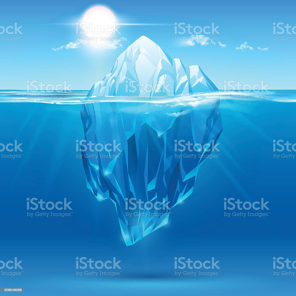 Iceberg illustration vector art illustration