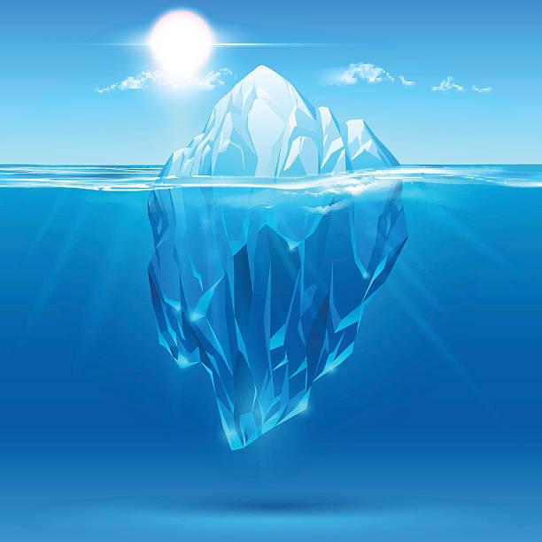 氷山イラストレーション - 南極旅行点のイラスト素材/クリップアート素材/マンガ素材/アイコン素材