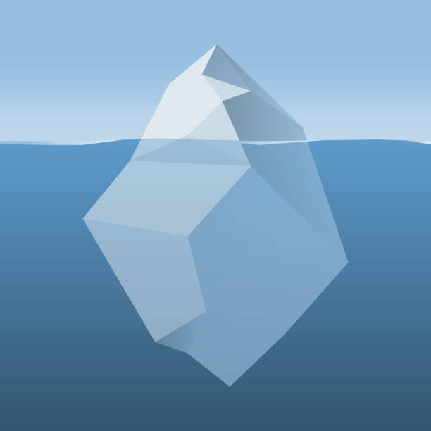ilustrações de stock, clip art, desenhos animados e ícones de iceberg in ocean water - iceberg