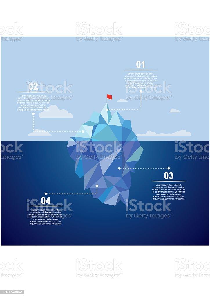 Iceberg infographic template. Vector illustration. vector art illustration