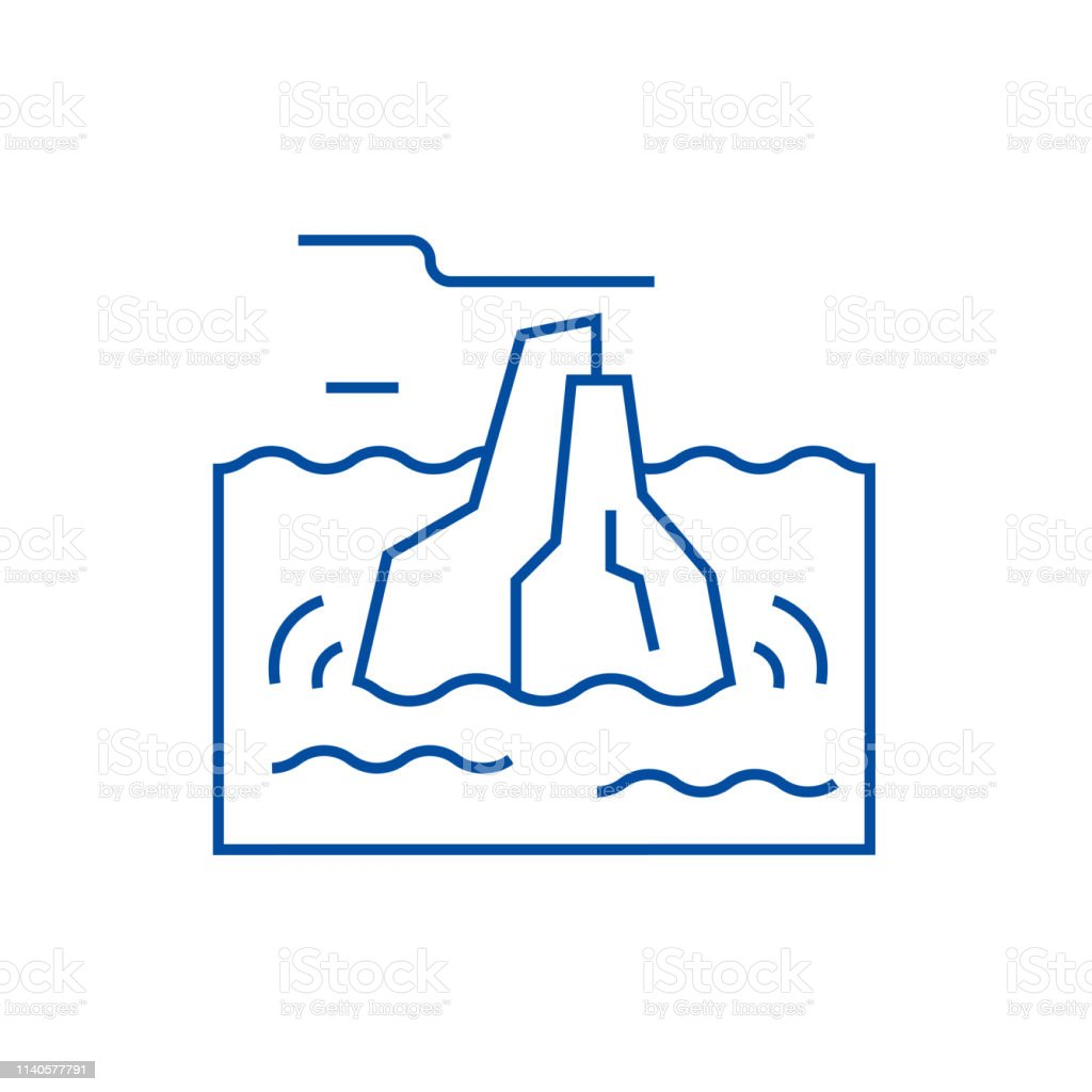 new style 9b26a 6a03d Iceberg Line Icon Concept Iceberg Flat Vector Symbol Sign ...