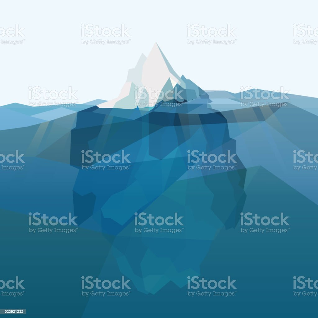 Iceberg polygonal background. vector art illustration