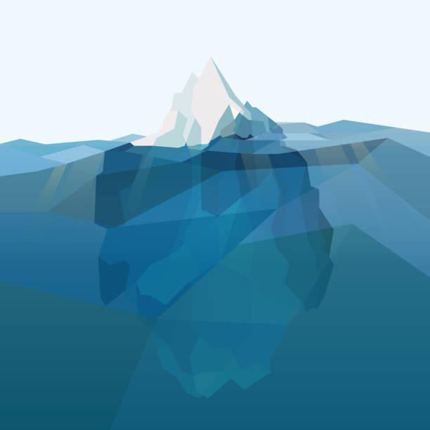 Iceberg polygonal background. – Vektorgrafik