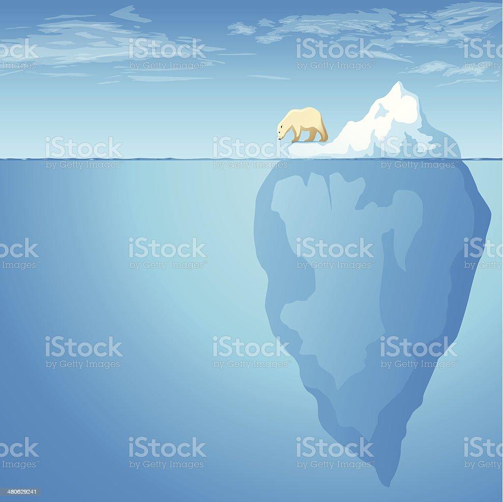 Iceberg Tip vector art illustration