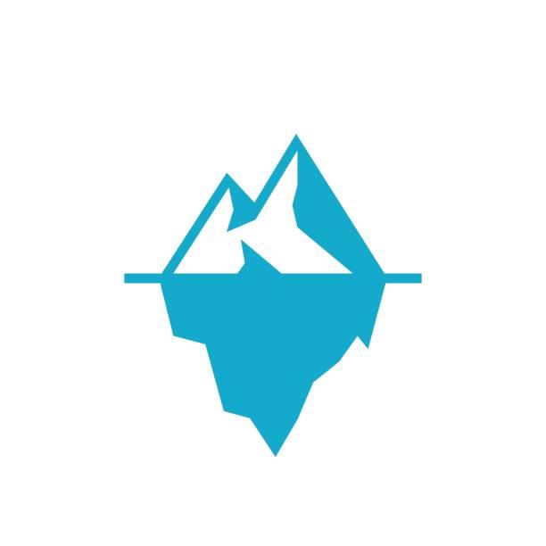 Iceberg underwater vector icon Iceberg underwater vector icon arctic stock illustrations