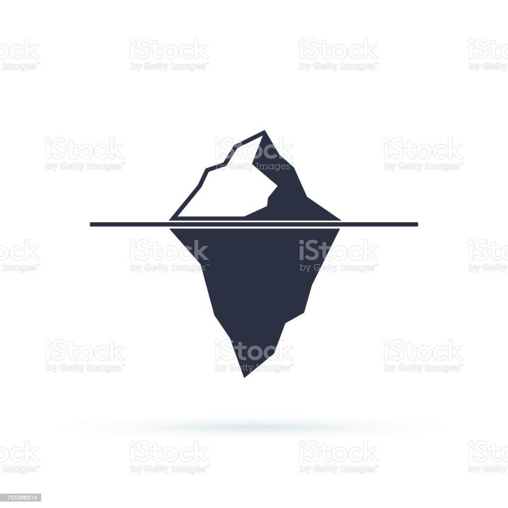 Iceberg vector eps icon isolated on white background