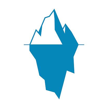 Iceberg vector icon isolated on white background.