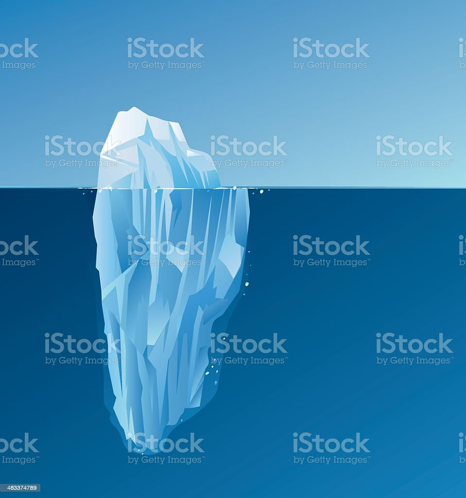 Iceberg royalty-free stock vector art