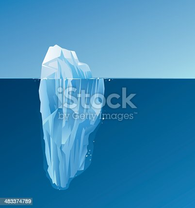 Iceberg and sea