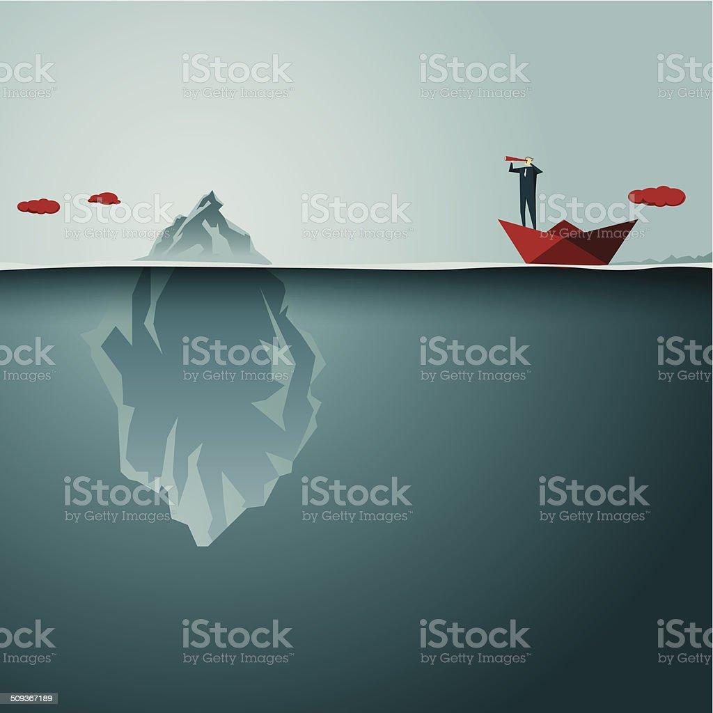 Iceberg vector art illustration