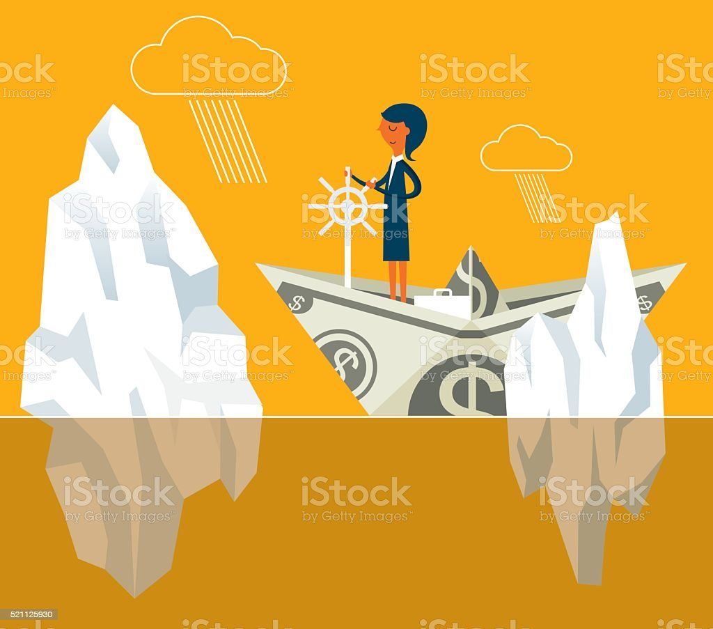 Iceberg vector art illustration