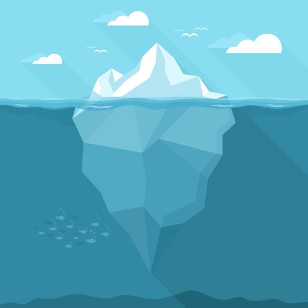 ilustrações de stock, clip art, desenhos animados e ícones de iceberg - iceberg
