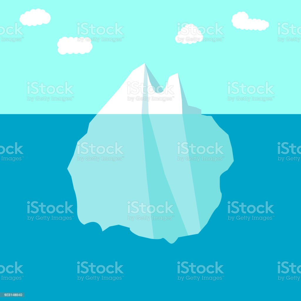 royalty free cartoon of a icebergs above and below water clip art rh istockphoto com iceberg clipart images melting iceberg clipart
