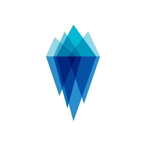 ilustrações de stock, clip art, desenhos animados e ícones de iceberg vector illustration - iceberg