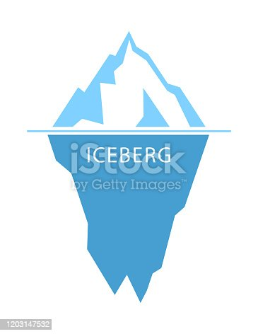 Iceberg vector logo on white background. flat design