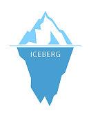 istock Iceberg vector logo 1203147532