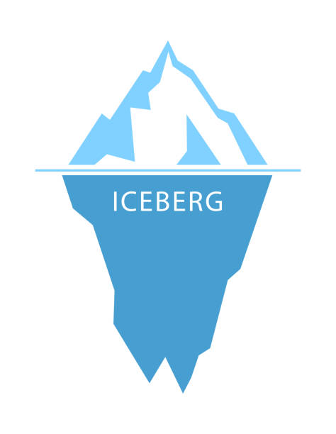 ilustrações de stock, clip art, desenhos animados e ícones de iceberg vector logo - iceberg