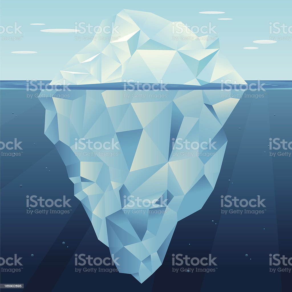 Iceberg vector vector art illustration