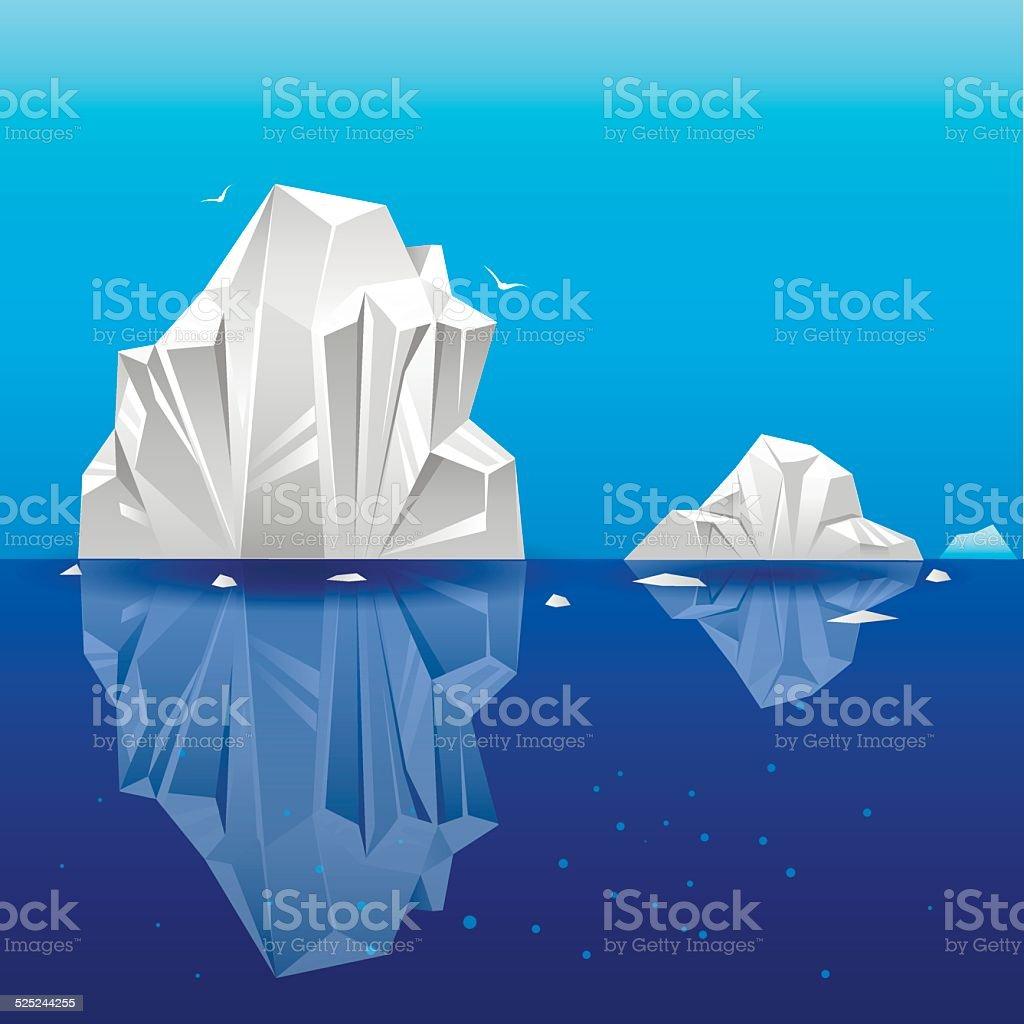 Iceberg2 vector art illustration