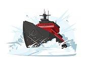 Icebreaker breaks ice