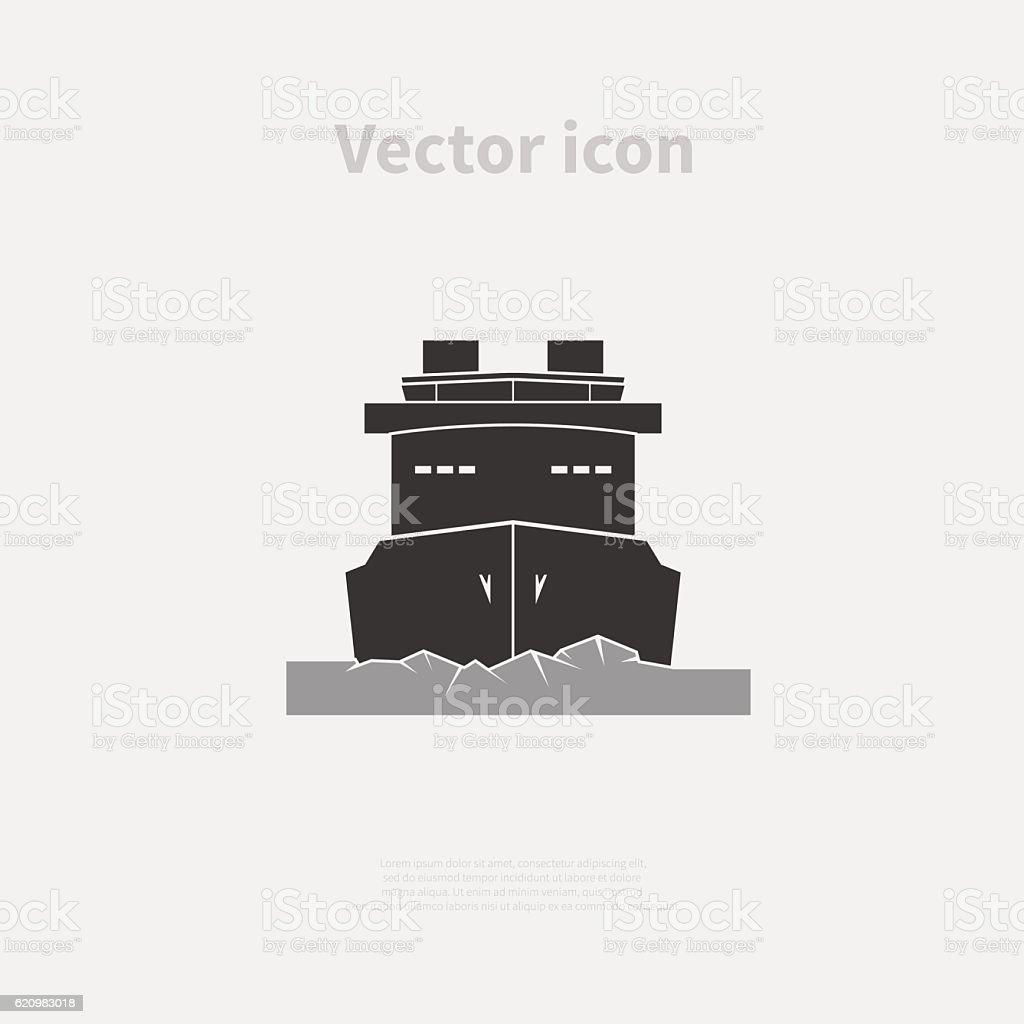 Icebreaker ship icon ilustração de icebreaker ship icon e mais banco de imagens de antártica royalty-free