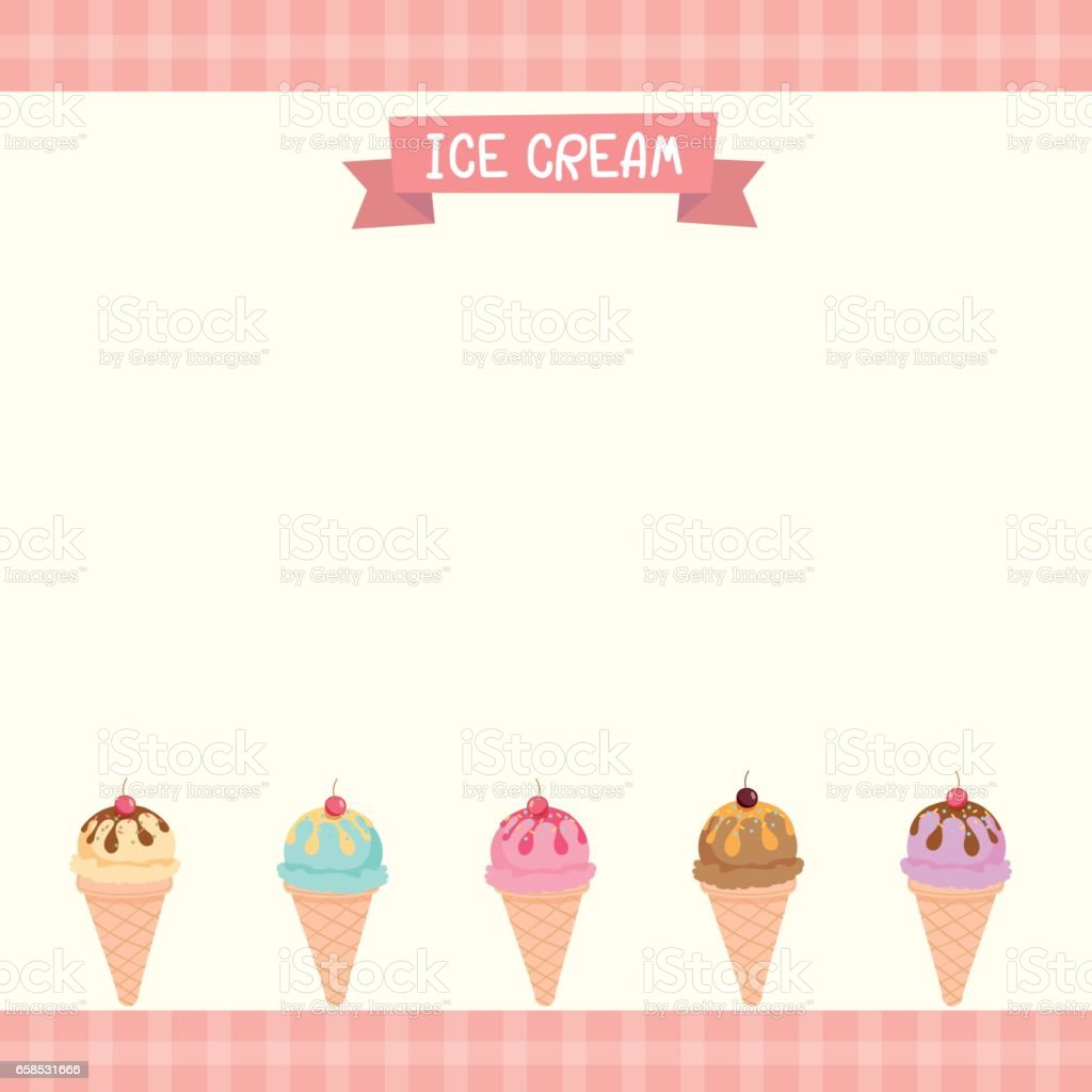 Icecream Menu Template Stock Vector Art More Images Of Animal Dung