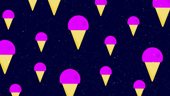 Ice-cream Pattern Background