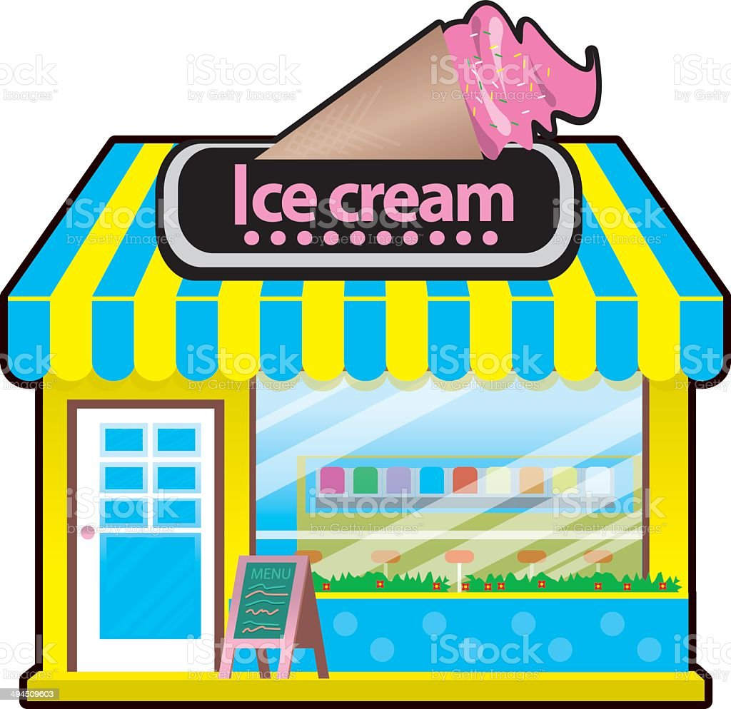 icecream shop stock vector art more images of awning 494509603 rh istockphoto com store clipart story clipart