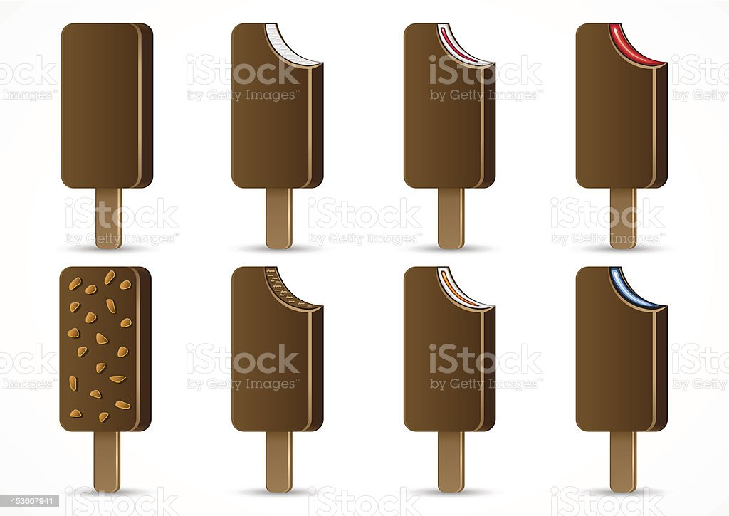 Icecreams with chocolate royalty-free icecreams with chocolate stock vector art & more images of art