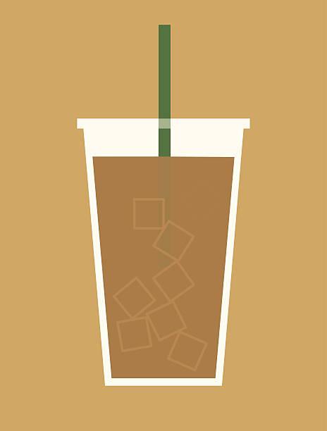 Iced Coffee vector art illustration