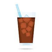 Vector illustration of iced coffee.