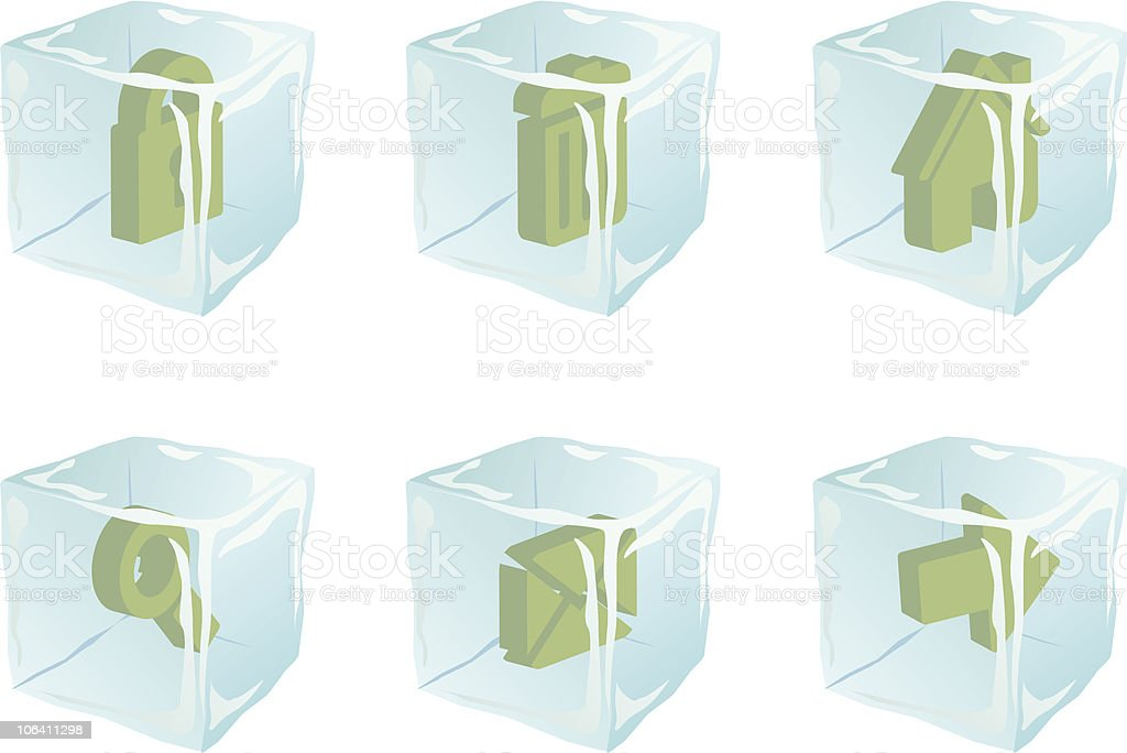 Iced icons vector royalty-free stock vector art