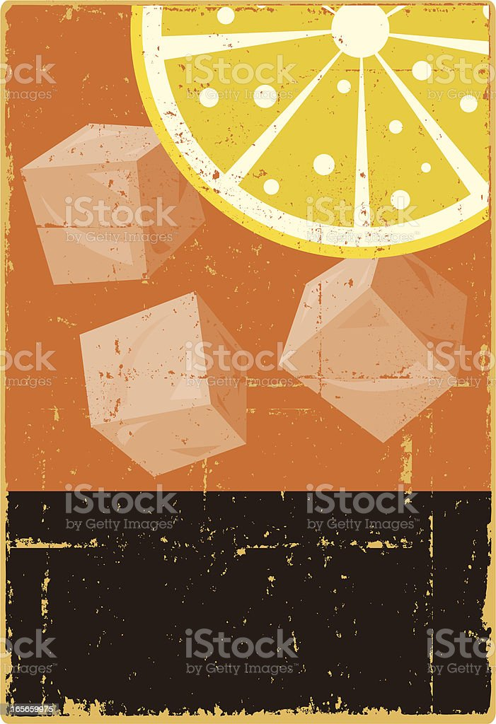Iced Tea with Lemon royalty-free stock vector art