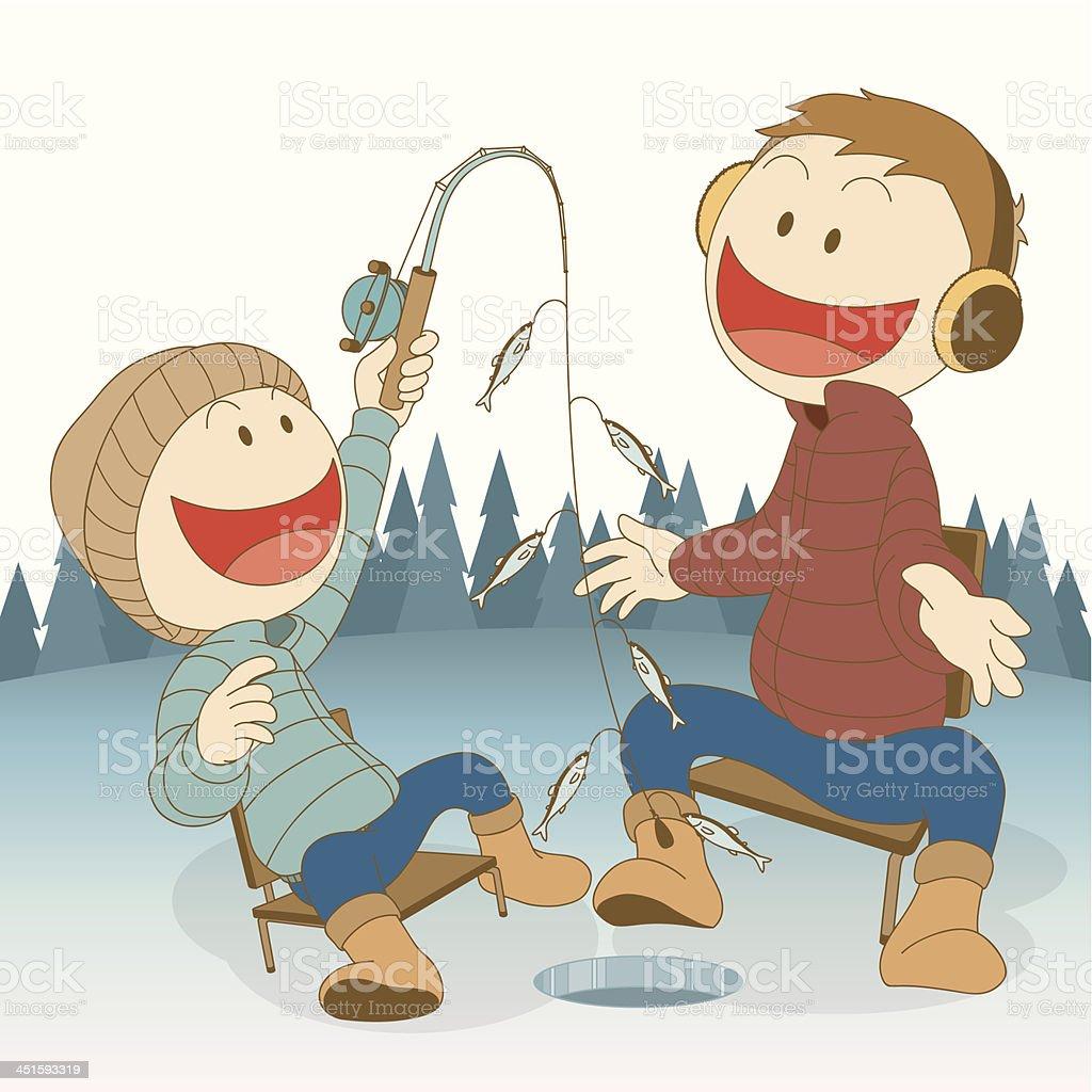 royalty free ice fishing clip art vector images illustrations rh istockphoto com Fish Clip Art Chili Clip Art