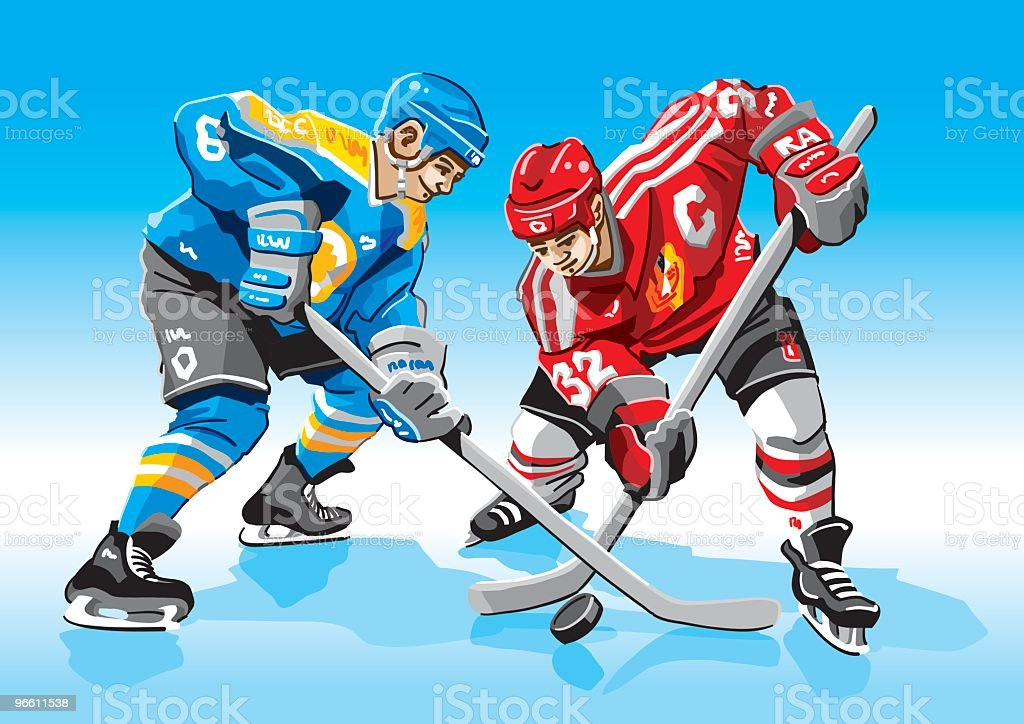 Ice-Hockey Face-Off - Royalty-free Adult stock vector
