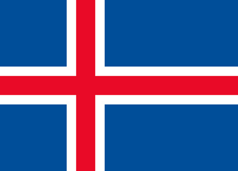 Iceland Europe Flag