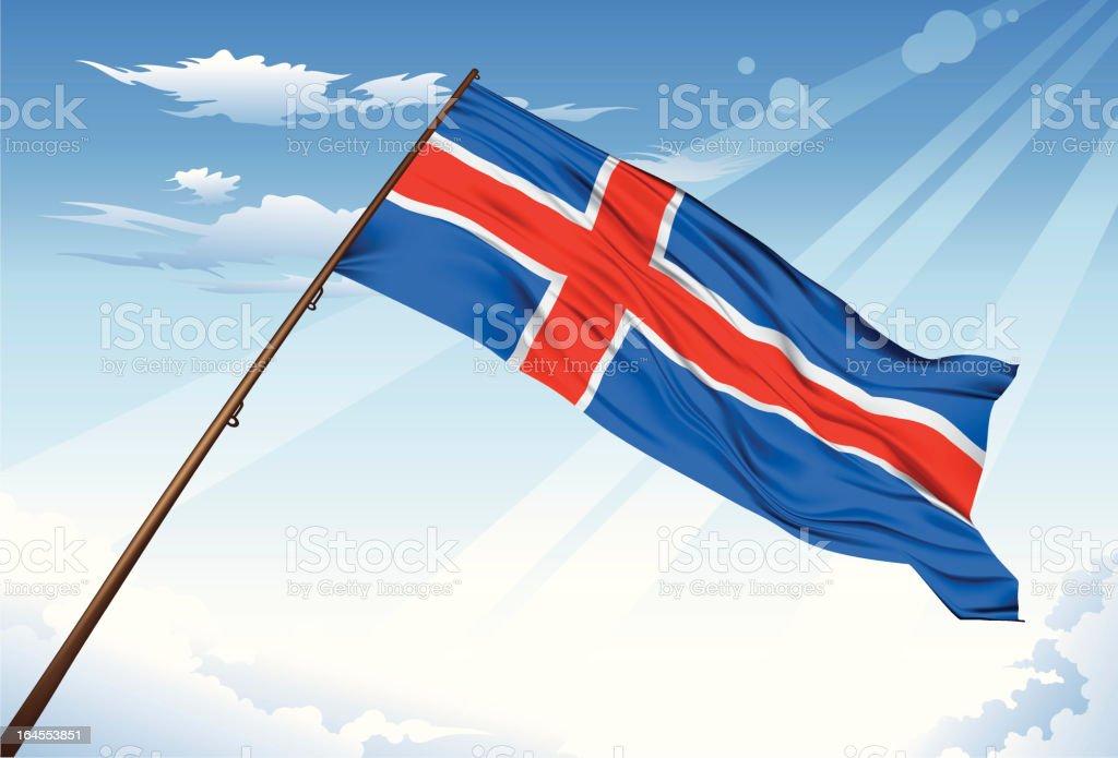 Iceland Flag royalty-free stock vector art